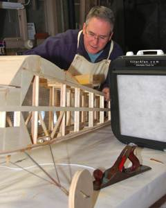 filterAfan to control dust when building mold RC airplanes